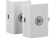 SNAKEBYTE Battery Kit Weiss + 2 Akkus a 700 mAh Zubehör Xbox One, Weiss/Schwarz