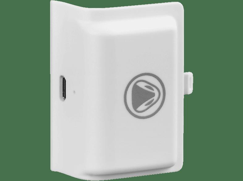 SNAKEBYTE Battery Kit Pro weiss + Akku 1.500 mAh Zubehör für Xbox One, Weiss/Schwarz