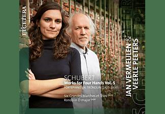 Jan Vermeulen, Veerle Peeters - Schubert: Works For Four Hands Vol. 5  - (CD)