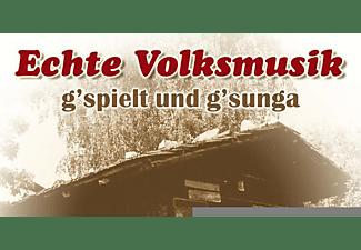 VARIOUS - Echte Volksmusik-g'spielt Und g'sunga  - (CD)