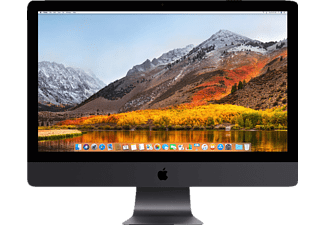 APPLE iMac Pro mit internationaler englischer Tastatur, 27 Zoll, All-in-One PC, 4 TB Speicher, 32 GB RAM, Xeon W Prozessor Prozessor, Radeon™ Pro Vega 64, Space Grau
