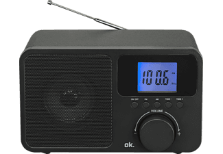 OK. OWR 230-B Radio, FM, FM, AM, Schwarz