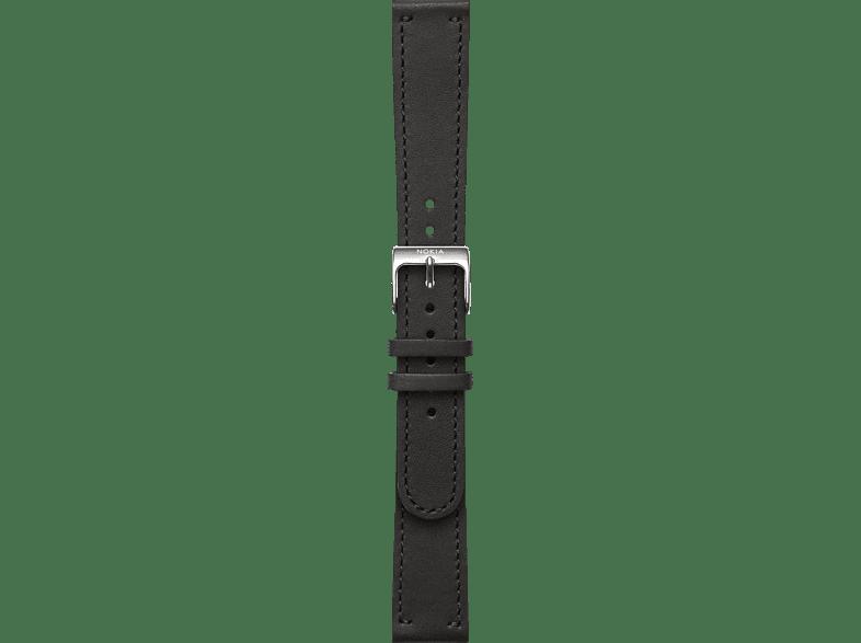 NOKIA Activite, Leder Armband, Nokia, Steel HR 36 mm, Schwarz