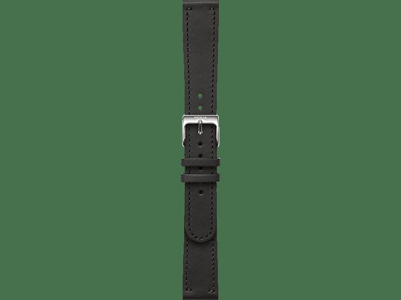 NOKIA Activite, Leder Armband, Nokia, Schwarz