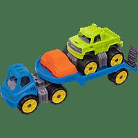 BIG Power-Worker Mini Monstertruck-Set Spielzeug Monstertruck-Set, Mehrfarbig
