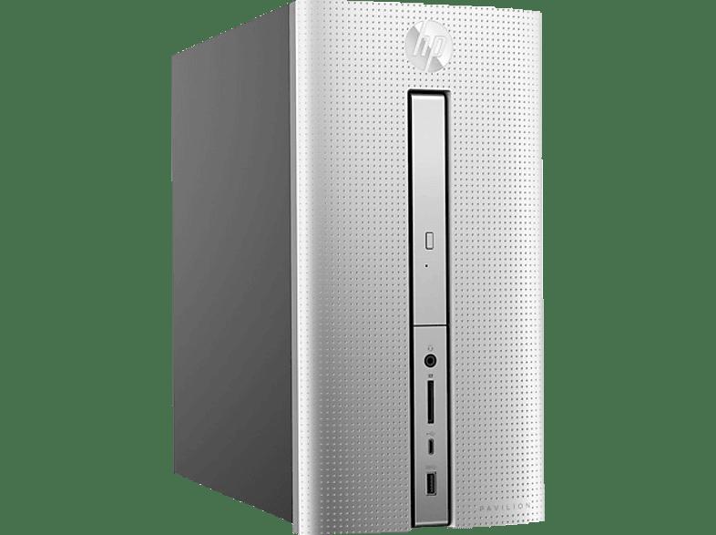HP 570-p513ng, Desktop PC, Core™ i5 Prozessor, 1 TB HDD, 128 GB SSD, GeForce GT 1030, Natursilber