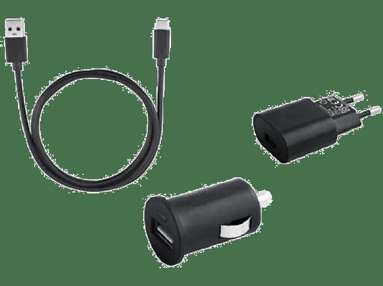 ISY Ladegerät Travel Charge Set USB C, schwarz (ITS 7000