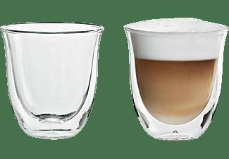Set de tazas - De Longui, 2 Tazas Capuccino, Vidrio doble, Transparente