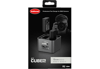 HÄHNEL ProCube2 Doppelschacht-Ladegerät Nikon, Silber
