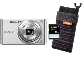 SONY Digitalkamera DSC-W830 SDI Bundle inkl. 8GB SD Karte und Fototasche, silber