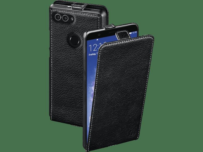 HAMA Essential Line , Flip Cover, Huawei, P Smart, Leder (Obermaterial), Schwarz