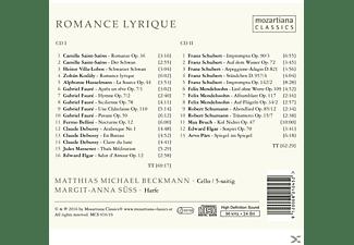 Matthias Michael Beckmann - Romance Lyrique CD I  - (CD)