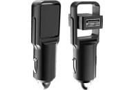 REALPOWER 2-Port car charger slim KFZ-Ladegerät mit zwei USB-Ports, Schwarz