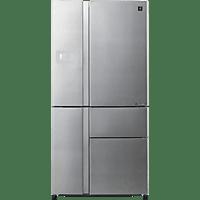 SHARP SJ-PX830FSL  French Door (410 kWh/Jahr, A++, 1850 mm hoch, Silber)