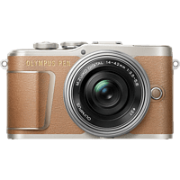 OLYMPUS PEN E-PL 9 Pancake Kit Systemkamera 16.1 Megapixel mit Objektiv 14-42 mm f/3.5, 7,6 cm Display Touchscreen, WLAN