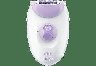 BRAUN Silk-epil 3 3-170 Epilierer, Weiß/Lila