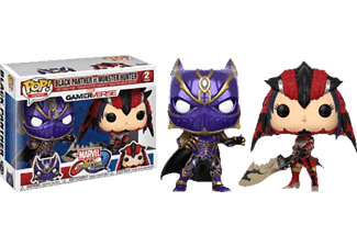 FUNKO UK POP! Capcom/Marvel: Black Pan. vs. Mon. Hunter 2PK Vinylfigur, Mehrfarbig