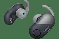 SONY WF-SP700N Earbuds, Ladeetui, In-ear Kopfhörer Bluetooth Schwarz