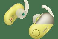 SONY WF-SP700N Earbuds, Ladeetui, In-ear Kopfhörer Bluetooth Gelb