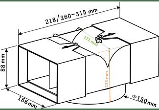 PKM AT150-4 Abluftweiche (171 mm)