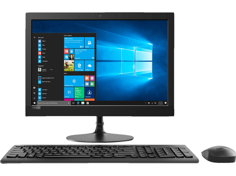 LENOVO IdeaCentre AIO 330, All-In-One-PC mit 19.5 Zoll Display, A6 Prozessor, 8 GB RAM, 1 TB HDD, Integriert, Schwarz