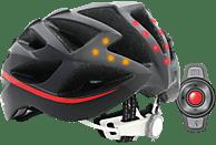 LIVALL BH 62 (Smarter Fahrradhelm, 55-61 cm, Schwarz/Rot)