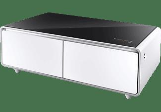 CASO Sound & Cool 790 Loungetisch – Kombination aus Soundbar & Getränkekühler  Kühlschrank (150 kWh/Jahr, A, 459 mm hoch, Weiß/Schwarz)