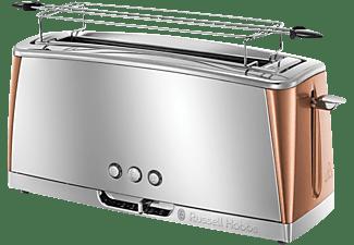RUSSELL HOBBS 24310-56 Luna Copper Accents  Toaster Edelstahl/Kupfer (1420 Watt, Schlitze: 1)