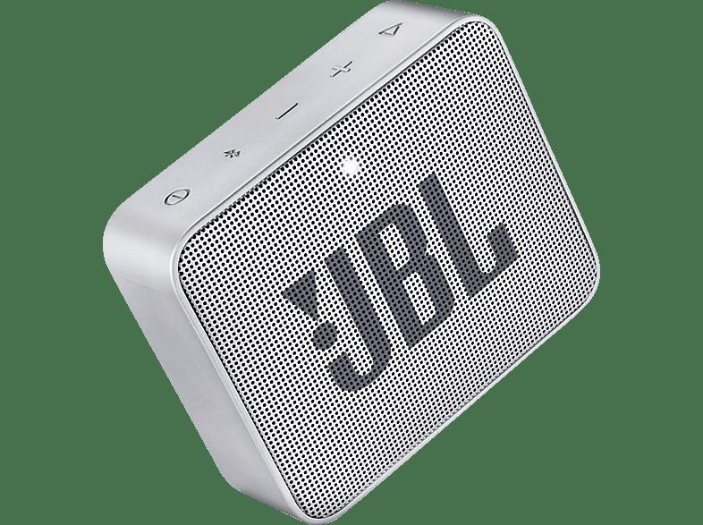 JBL GO2 Bluetooth Lautsprecher, Grau, Wasserfest