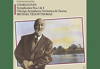 Charles Edward Ives - Sinfonie 1 & 4  - (CD)