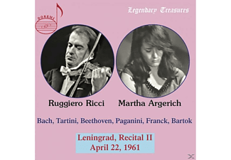 Argerich, Martha | Ricci, Ruggiero - Leningrad,Recital II,1961-Legendary Treasures  - (CD)