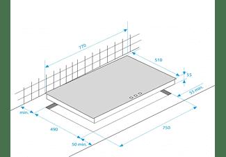 BEKO HIC 85502 TX Elektrokochfeld (77 cm breit, 5 Kochfelder)