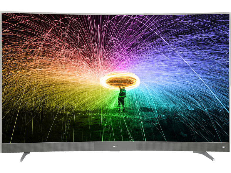 TCL U65P6096 LED TV (Curved, 65 Zoll/163 cm, UHD 4K, SMART TV, Android TV)