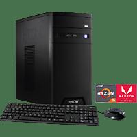 HYRICAN CYBERGAMER 5828 BLACK RYZEN 5, Gaming PC mit Ryzen™ 5 Prozessor, 8 GB RAM, 240 GB SSD, 1 TB HDD, Radeon™ Vega 11