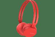 SONY WH-CH400, On-ear Kopfhörer Bluetooth Rot