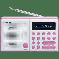 LENCO MPR-034PK Tragbares Radio, FM, Pink