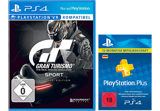 SONY Gran Turismo Sport Day 1 Edition + PlayStation Plus Card 12 Monate (für deutsche SEN-Konten)