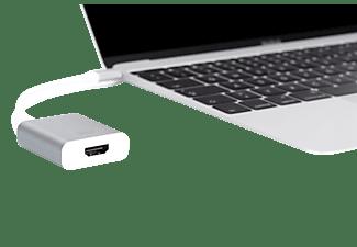 DIGITUS DA 70836, USB Typ-C auf HDMI, 4K30Hz Ultra HD Grafikadapter, Silber