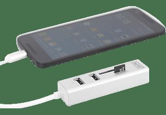 DIGITUS USB 2.0 Typ-C HUB mit Kartenleser, 3x USB 2.0. 1x SD, 1x MicroSD Port, Aluminium Gehäuse USB 2.0 Hub mit Cardreader