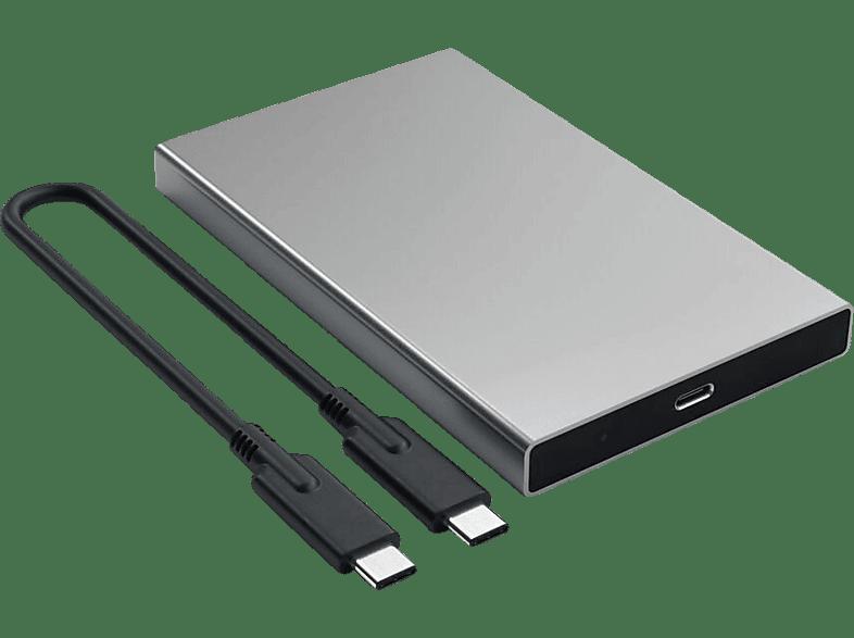SATECHI Satechi Aluminumgehäuse Typ-C HDD/SSD grau extern HDD- / SDD-Aluminiumgehäuse