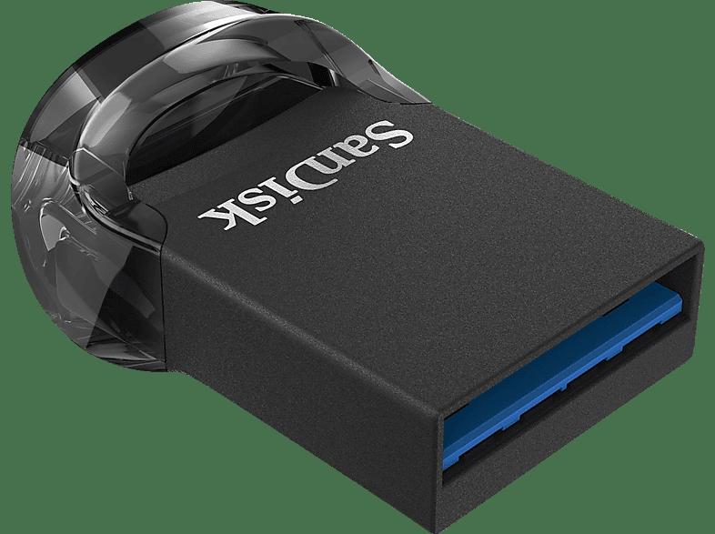 SANDISK Ultra Fit USB-Stick, 128 GB, 130 MB s, Schwarz