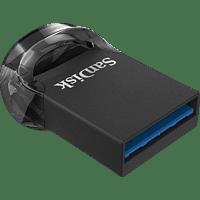 SANDISK Ultra® Fit USB Stick, Schwarz, 128 GB