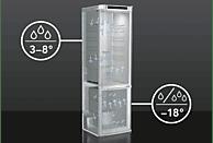 AEG RCB53431NX - 925 054 510  Kühlgefrierkombination (A+++, 159 kWh/Jahr, 1845 mm hoch, Edelstahl/Silber)
