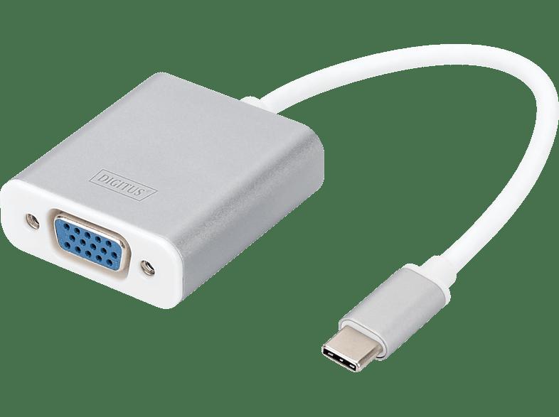 DIGITUS DA 70837 USB Typ-C auf VGA, Full HD, Grafikadapter, Silber