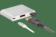DIGITUS DA 70846 USB Typ-C auf DisplayPort(UHD), USB 2.0 & USB-C-Port, PD 2.0, Multiport Adapter