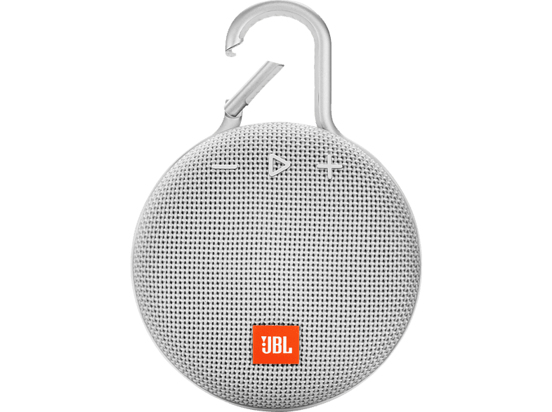 JBL Clip 3 Bluetooth Lautsprecher, Weiß, Wasserfest