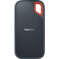 SANDISK Extreme® Portable SSD 1 TB, 1 TB SSD, 2,5 Zoll, extern, Grau/Rot