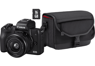 CANON EOS M50 + 15-45mm IS STM + tas + 16GB SD