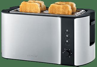 SEVERIN AT 2590 Toaster Edelstahl-gebürstet/Schwarz (1400 Watt, Schlitze: 2)
