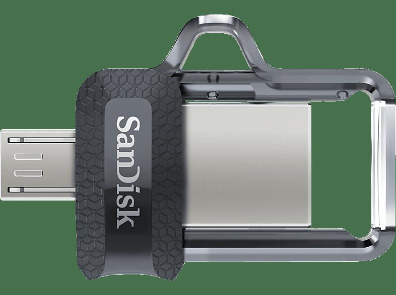 SANDISK Ultra Dual USB-Laufwerk m3.0 USB Stick, 256 GB, 150 MB s